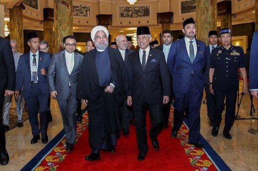 گزارش توییتری ظریف از سفر روحانی به کوالالامپور