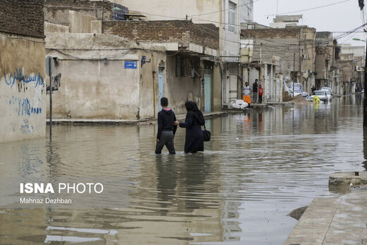 آخرین وضعیت تخلیه آب در اهواز و دیگر شهرها/ نیاز به شبکه دفع آبهای سطحی در خوزستان