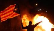 تظاهرات حامیان استقلال «کاتالونیا» به خشونت کشیده شد/ عکس