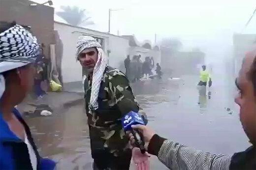 فیلم | اشکهای یک بسیجی در منطقه بحران زده کوت عبدالله