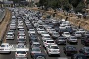آزادراه قزوین_کرج_تهران ترافیک نیمه سنگین دارد