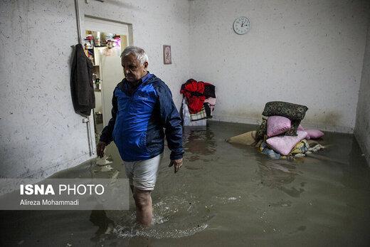 اسکان اضطراری ۱۳۱۰ نفر از آسیبدیدگان بارندگی اخیر خوزستان