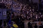 فیلم   مشعل باران بارسلونا توسط جدایی طلبان کاتالانها