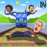 قطاری که از روی آقای خاص رد شد!
