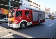 آتشسوزی در یک مجتمع تجاری در خیابان آجودانیه