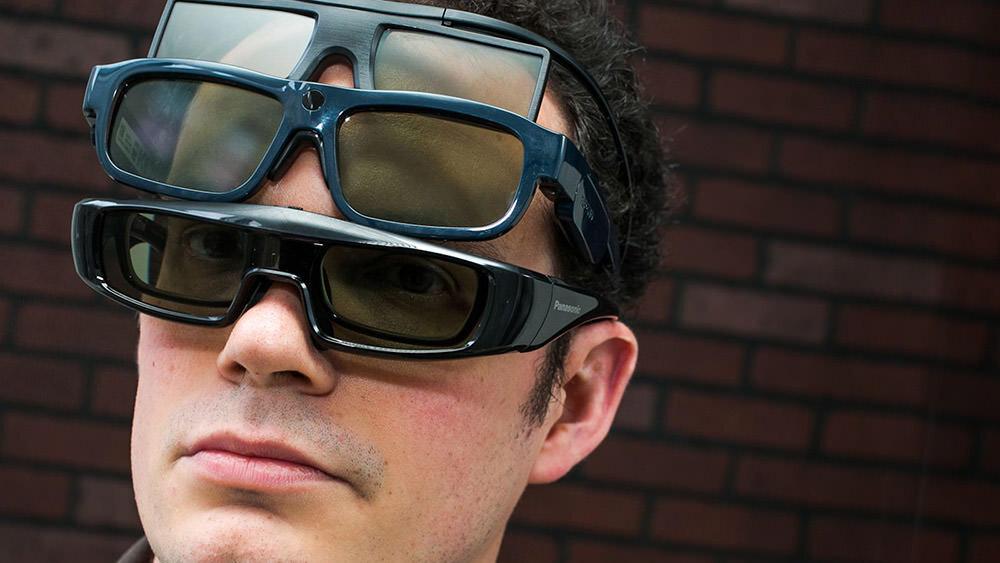 عینک تلویزیون سه بعدی