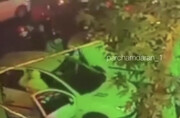 ببینید | صحنه چاقو خوردن «هانی کُرده» لات معروف تهران توسط دو موتور سوار