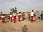 بستههای بهداشتی هلالاحمر در مناطق سیلزده خوزستان توزیع شد