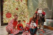 تصاویر | مسی با لباس عجیب و غریبش آماده کریسمس در کنار خانواده!