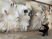 عکس | نقاشی خارقالعاده هنرمند فرانسوی روی دیوار