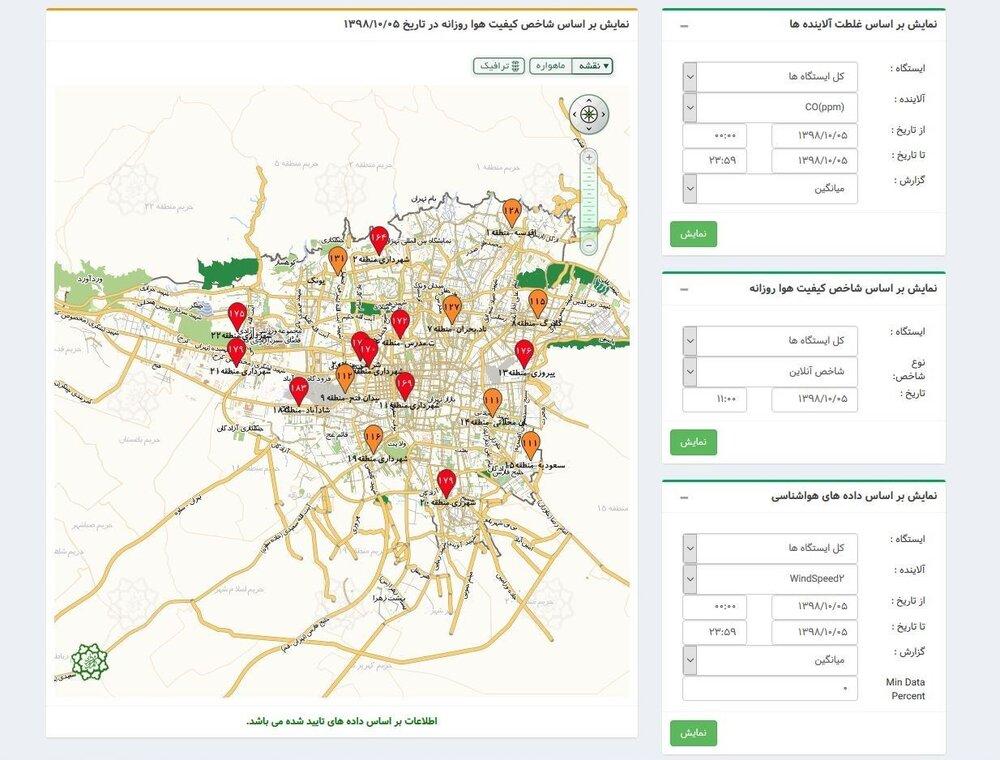 آلودگی هوای تهران ,