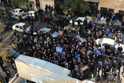 تجمع هواداران معترض استقلال مقابل باشگاه