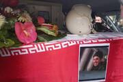 تصاویر | تشییع پیکر خلبان هواپیمای نظامی سقوط کرده در تبریز