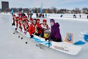 فیلم   مسابقه قایقرانی روی یخ!