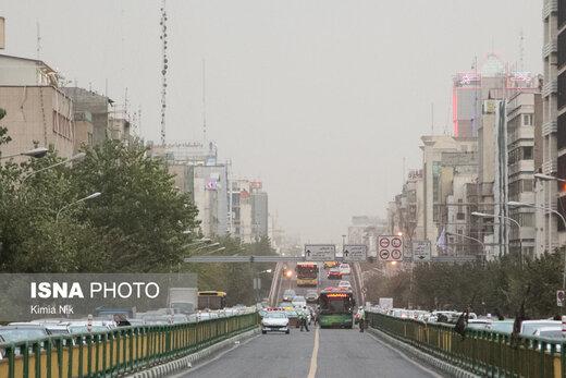 کاهش دمای هوا در تهران