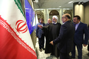 President Rouhani visits petrochemical industry exhibition