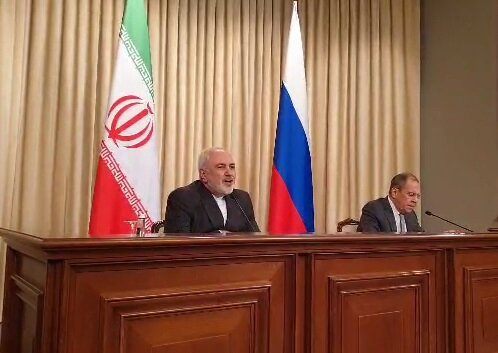 کنفرانس خبری ظریف و لاوروف؛ از وضعیت ادلب تا مانور نظامی