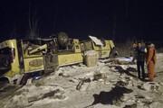 تصاویر | واژگونی مرگبار اتوبوس در آزادراه زنجان - تبریز
