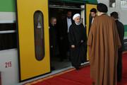 تصاویر | حسن روحانی در آیین افتتاح قطار برقی شهر جدید هشتگرد