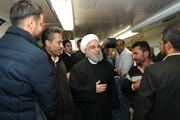 تصاویر | متروسواری رئیس جمهور با شهردار تهران