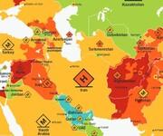 نقشه خطر سفر در سال ۲۰۲۰ منتشر شد: ایران امن تر از ترکیه، روسیه و عربستان