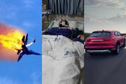 فیلم | حمله به «هانی کُرده»، سقوط جنگنده و وانت موتور لکسوس!