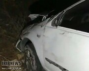 خودروی تیبا به کوه خورد و راننده کشته شد
