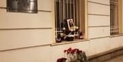 همدردی مردم روسیه مقابل سفارت ایران در پی شهادت سردار/عکس