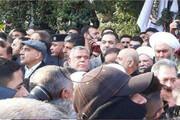 ببینید | حضور هادی العامری و عادل عبدالمهدی در مراسم تشییع شهید حاج قاسم سلیمانی و همرزمان