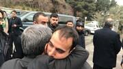 تصاویر | فرزند شهید سلیمانی در آغوش احمدینژاد