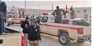 ورود پیکرهای مطهر سردار شهید سلیمانی و المهندس به نجف