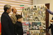 دانش آموز البرزی از تصاویر سردار سلیمانی آلبوم ساخت