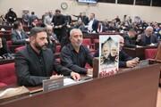 ببینید | عکس سردار شهید قاسم سلیمانی و ابومهدی مهندس در پارلمان عراق