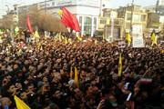 انتهاء مراسم التشييع التاريخية لشهداء المقاومة في مدينة قم