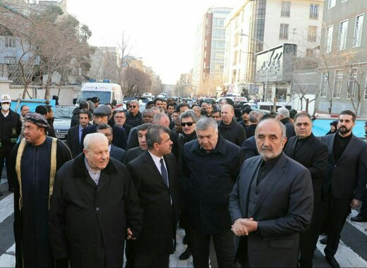 Foreign diplomats take part in General Soleimani funeral