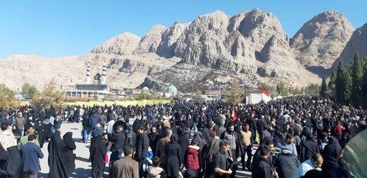 عکسی متفاوت از مراسم تشیع پیکر سردار سلیمانی در کرمان