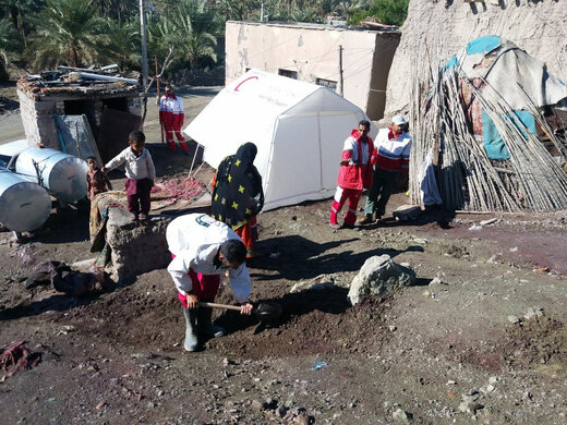 ۷۴ آسیب دیده سیل در سیستان و بلوچستان اسکان یافتند