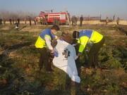 اجساد جانباختگان سقوط هواپیمای اوکراینی به پزشکی قانونی منتقل شد