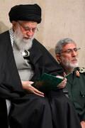 عکسی از سردار قاآنی در کنار رهبری در مراسم بزرگداشت سردار سلیمانی /حضور روحانی و جهانگیری