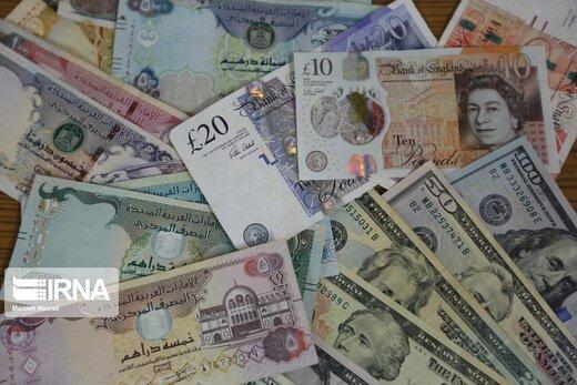 قیمت یورو و پوند و ۱۱ ارز دیگر افتاد