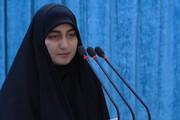 دختر سردار سلیمانی در لبنان: به نام قاسم سلیمانی و ندای حق و دین پیش شما آمده ام /دشمنان نمیخواهند که جوانان ما جسور باشند