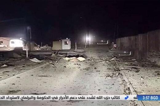 فیلم | نخستین تصاویر رسمی شبکه تلویزیونی عراقی از خسارات پایگاه عین الاسد پس از حملات موشکی سپاه