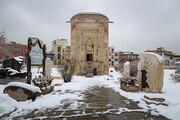 تصاویر   بارش برف ارومیه را سفیدپوش کرد