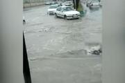 فیلم | آب گرفتگی خیابانهای زاهدان در پی بارش باران