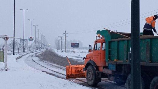 هیچ محور مواصلاتی بدلیل بارش برف در آذربایجانغربی مسدود نیست