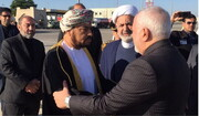 Zarif arrives in Muscat to attend Sultan Qaboos funeral procession