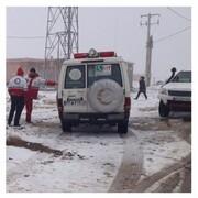 یک پیرمرد در برف یخ زد و از دنیا رفت