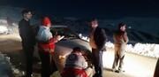 امدادگران البرز ۹ گرفتار در برف را نجات دادند
