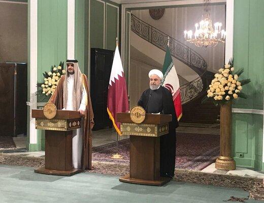 رایزنی روحانی و امیر قطر درباره امنیت خلیج فارس و تنگه هرمز
