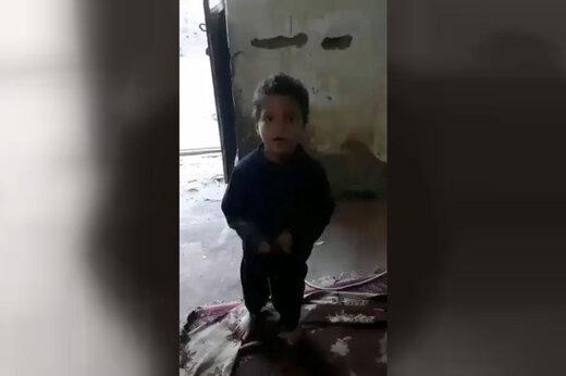 فیلم | صحبتهای دردناک یک کودک بلوچ: داریم از سرما میمیریم